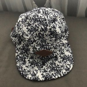 Empyre supply co five 5 panel hat black and white